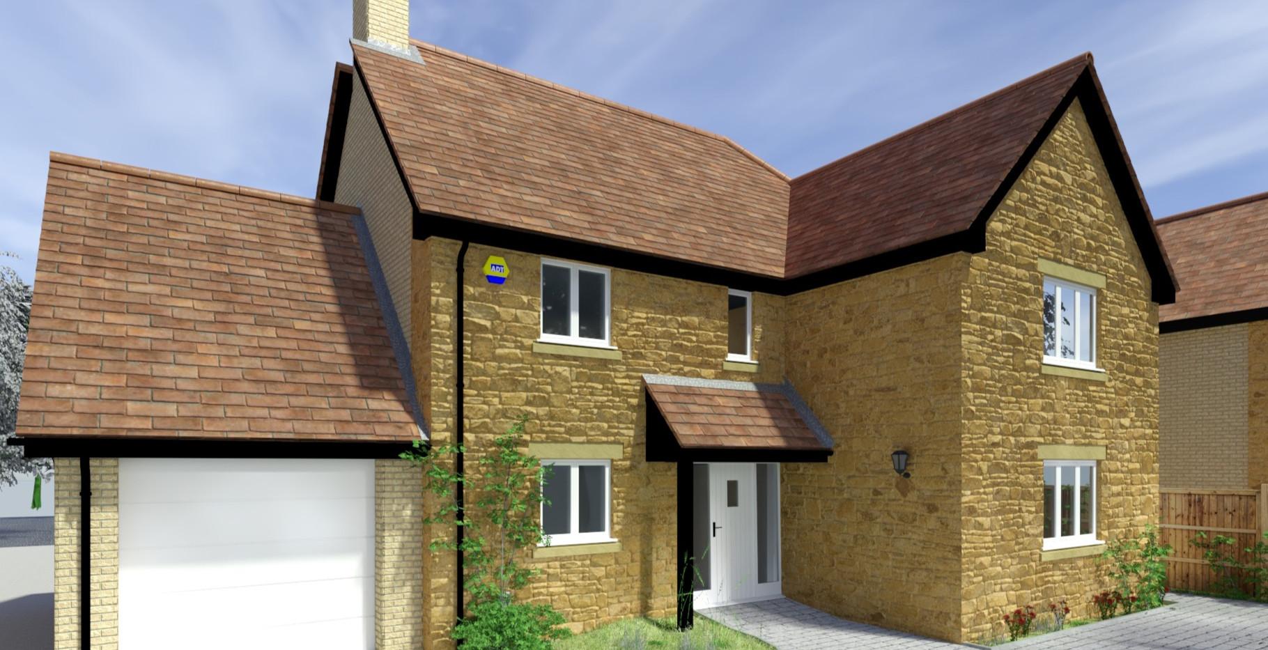 Front Elevation - Plot 2, Martock Lane, Ash