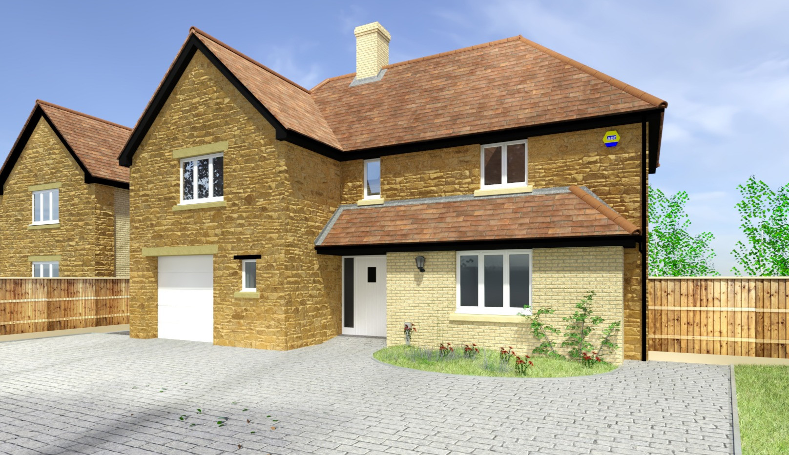 Front Elevation, Plot 3, Martock Lane, Ash