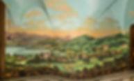 Ansicht von Sarnen als Secco-Malerei im sogenannten Schweizerzimmer;