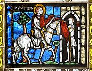 Hl. Martin - Glasfenster im Kreuzgang