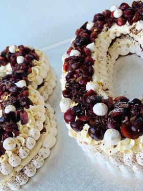 Winter Pavlova Number Cake