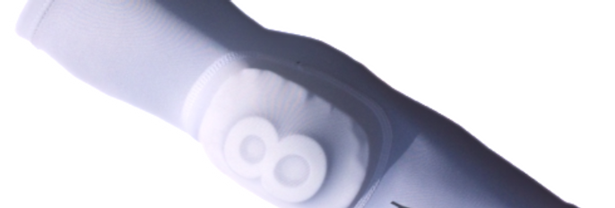 Elbow Pad Sleeve with Removable Pad and Number treDCAL