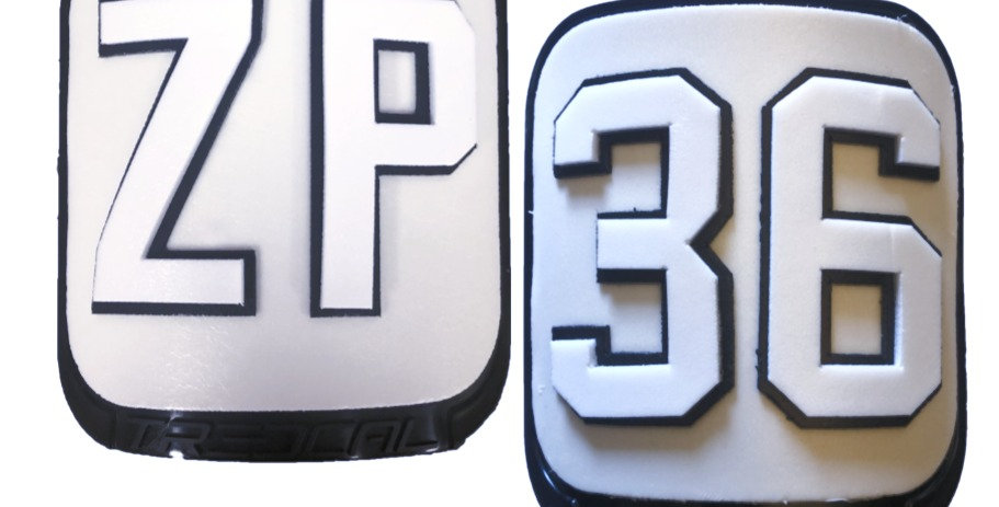 Initials & Number on Thigh Plates
