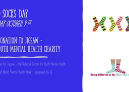 'Odd Socks Day' fundraiser for Jigsaw 9 October