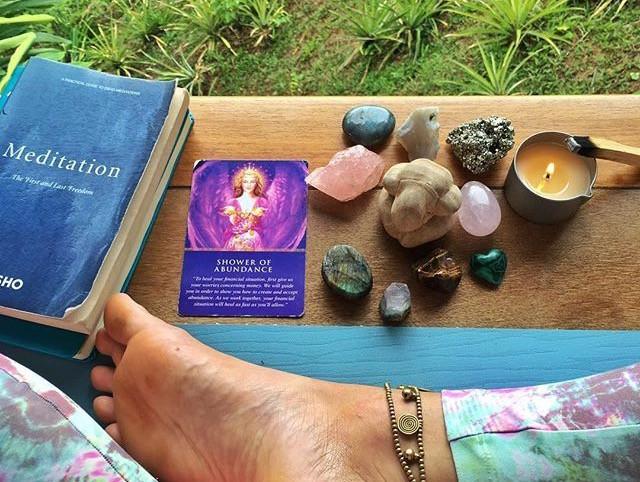 meditation, crystals, incense