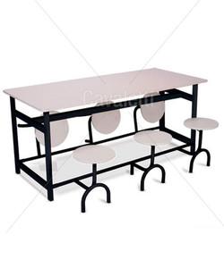 Mesa de refeitório com bancos