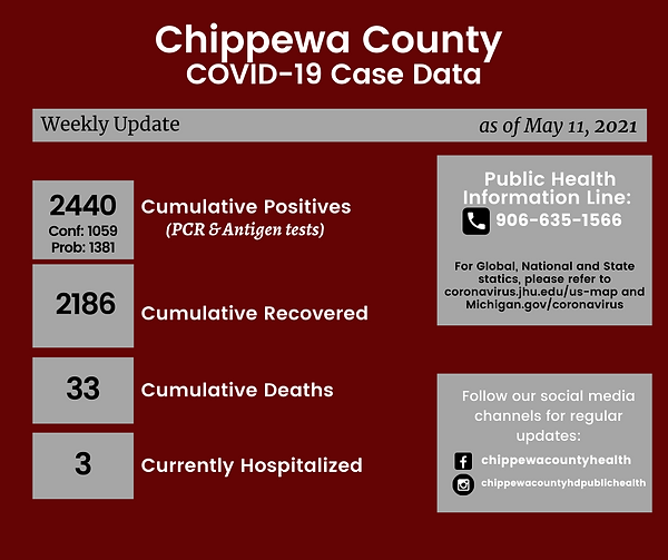 Chippewa County COVID-19 Case Date 20210