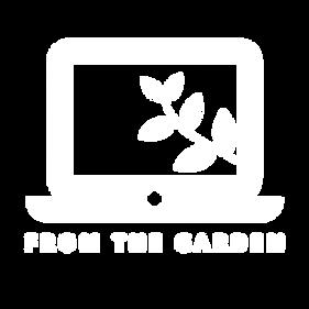 From the Garden Logo WHITE (transparent)