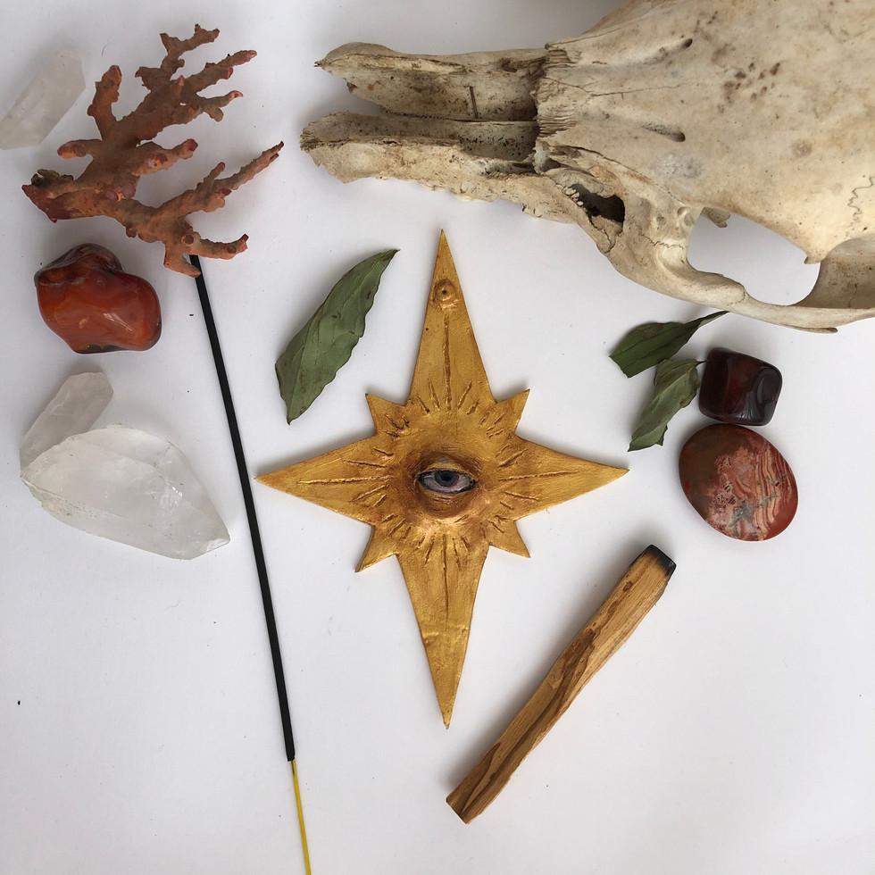 porte encens étoile fait main Alexie kajpust créations argile lost art child alxik.art