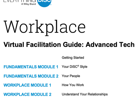Virtual Facilitation - the New Normal for training.