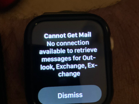 Apple Watch - Cannot Get Mail
