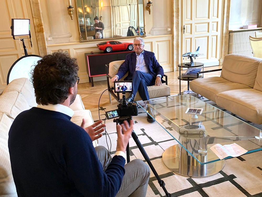 Director interviewing designer