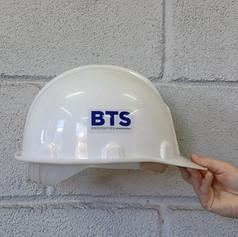 Etiqueta em PVC para capacete