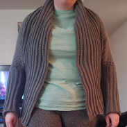 Grey cardigan front