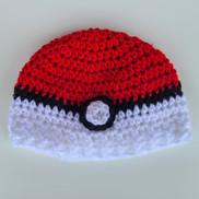 Pokeball Newborn Hat