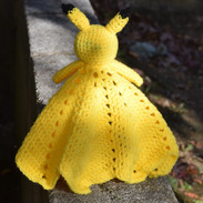 Pikachu Baby Blanket Back