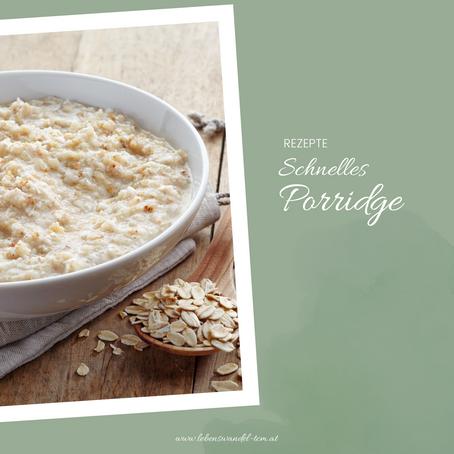 Schnelles Porridge - warmes Frühstück in weniger als 5 Minuten