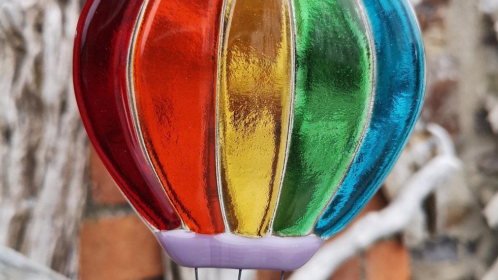 Rainbow hot air balloon small or medium