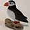 Thumbnail: Fused glass puffin on driftwood