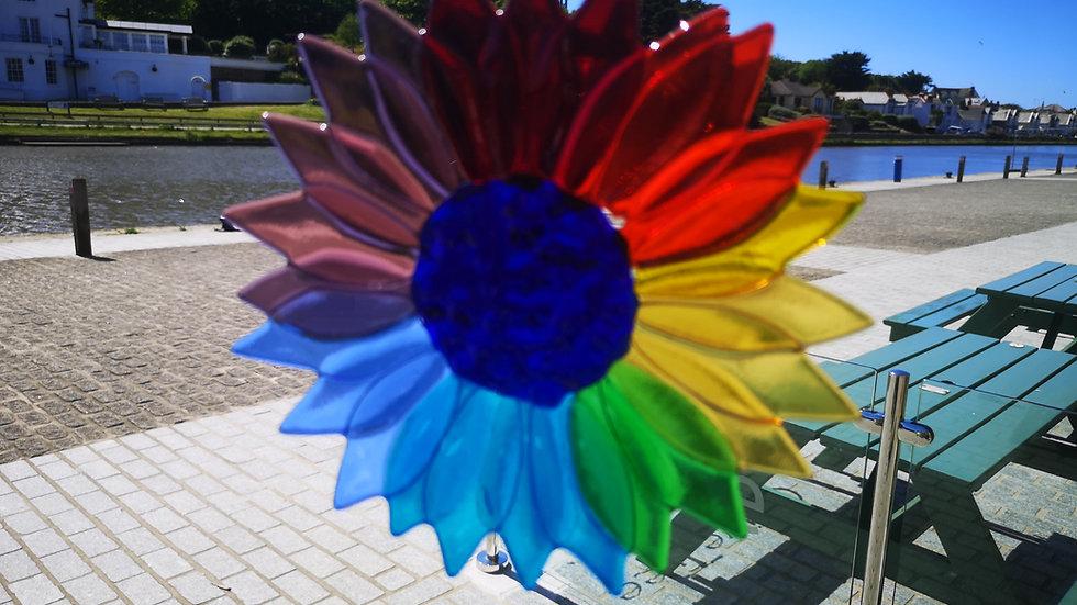 Rainbow hanging flower
