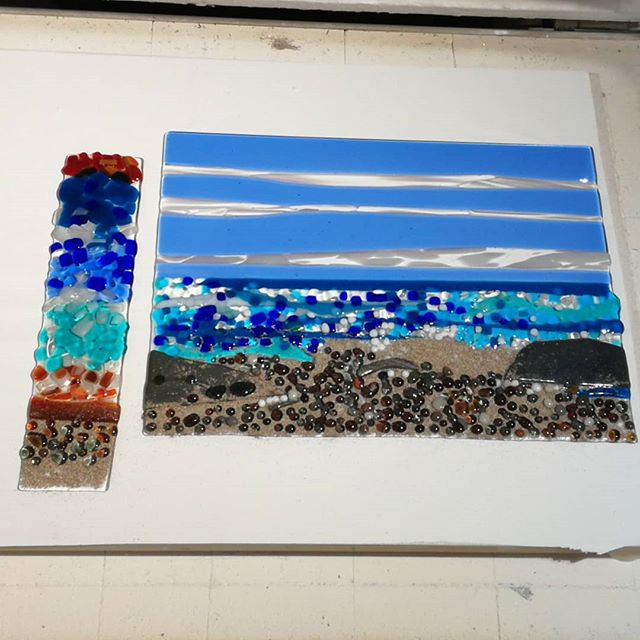 A couple of sea scenes made in a worksho