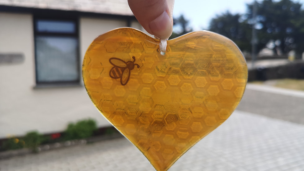 Love Bees suncatcher