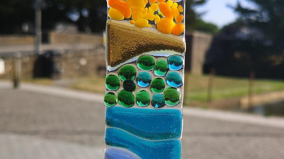 Rainbow coloured different texture suncatcher