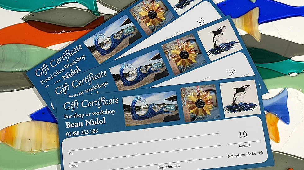 Beau Nidol gift vouchers