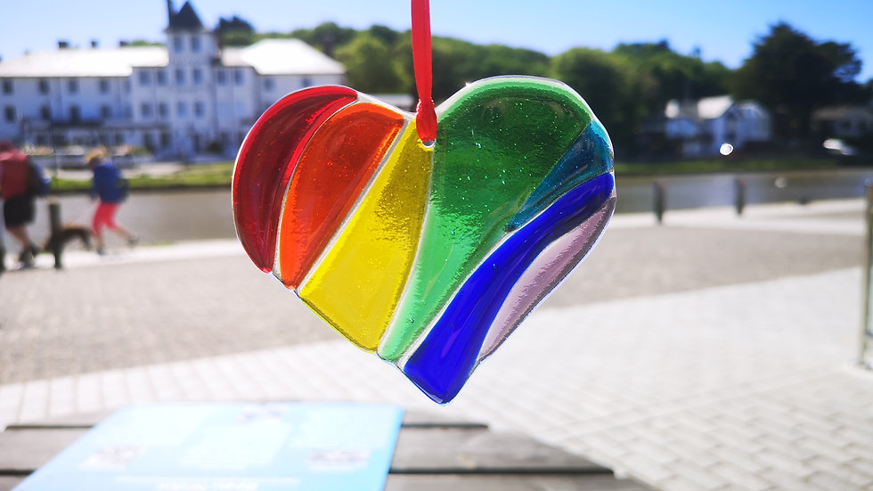 Rainbow colours heart
