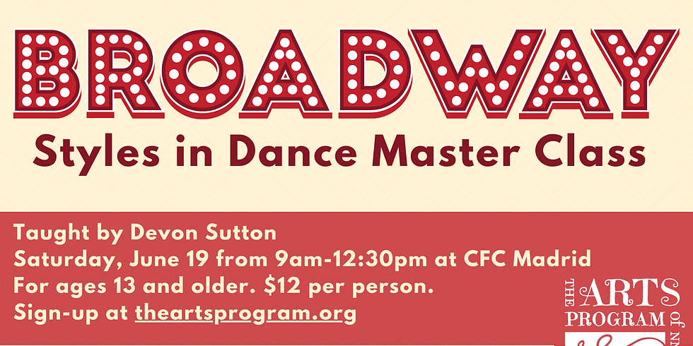 Broadway Styles in Dance Master Class