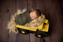 newborn photography tonka truck