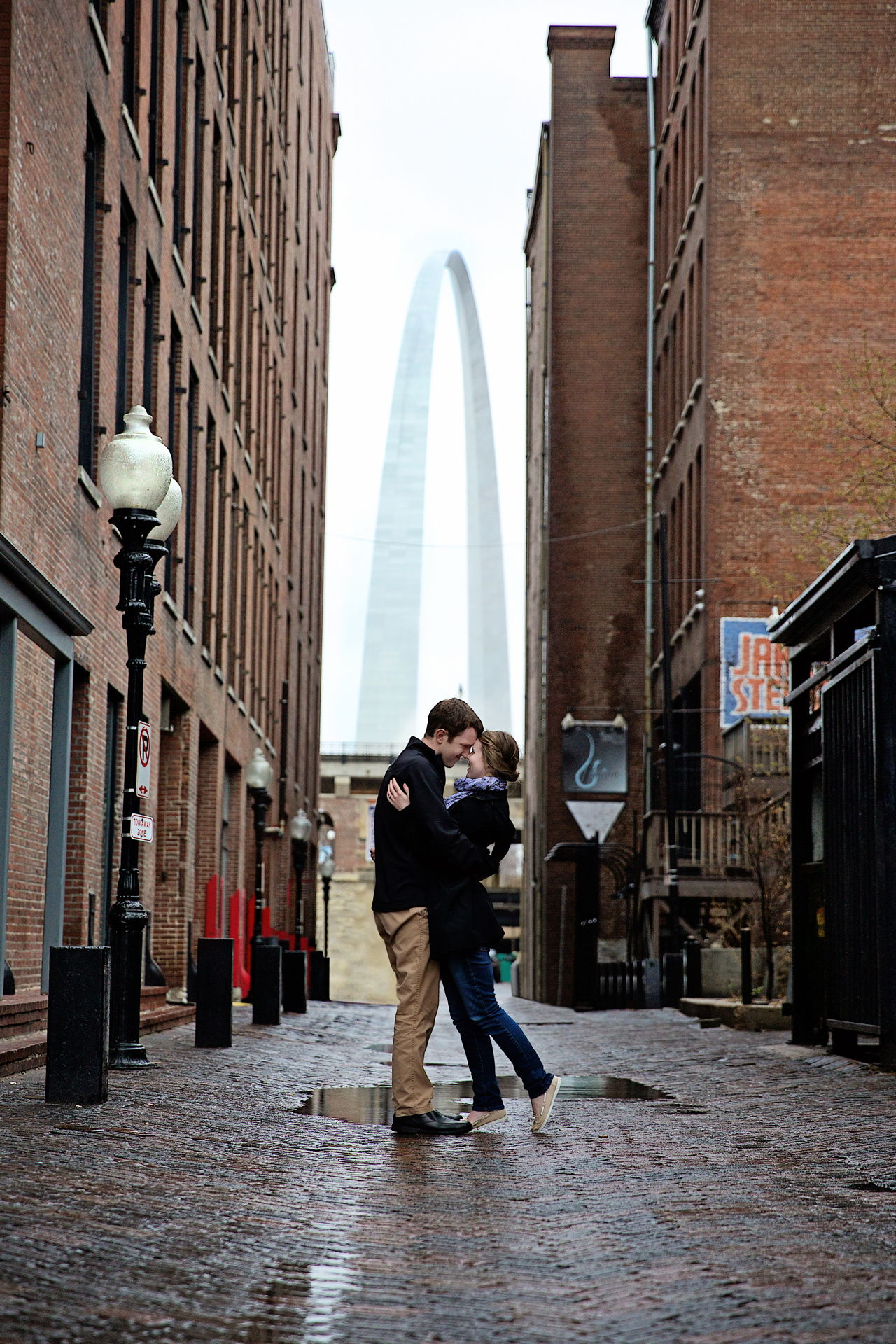 st louis arch engagement photography