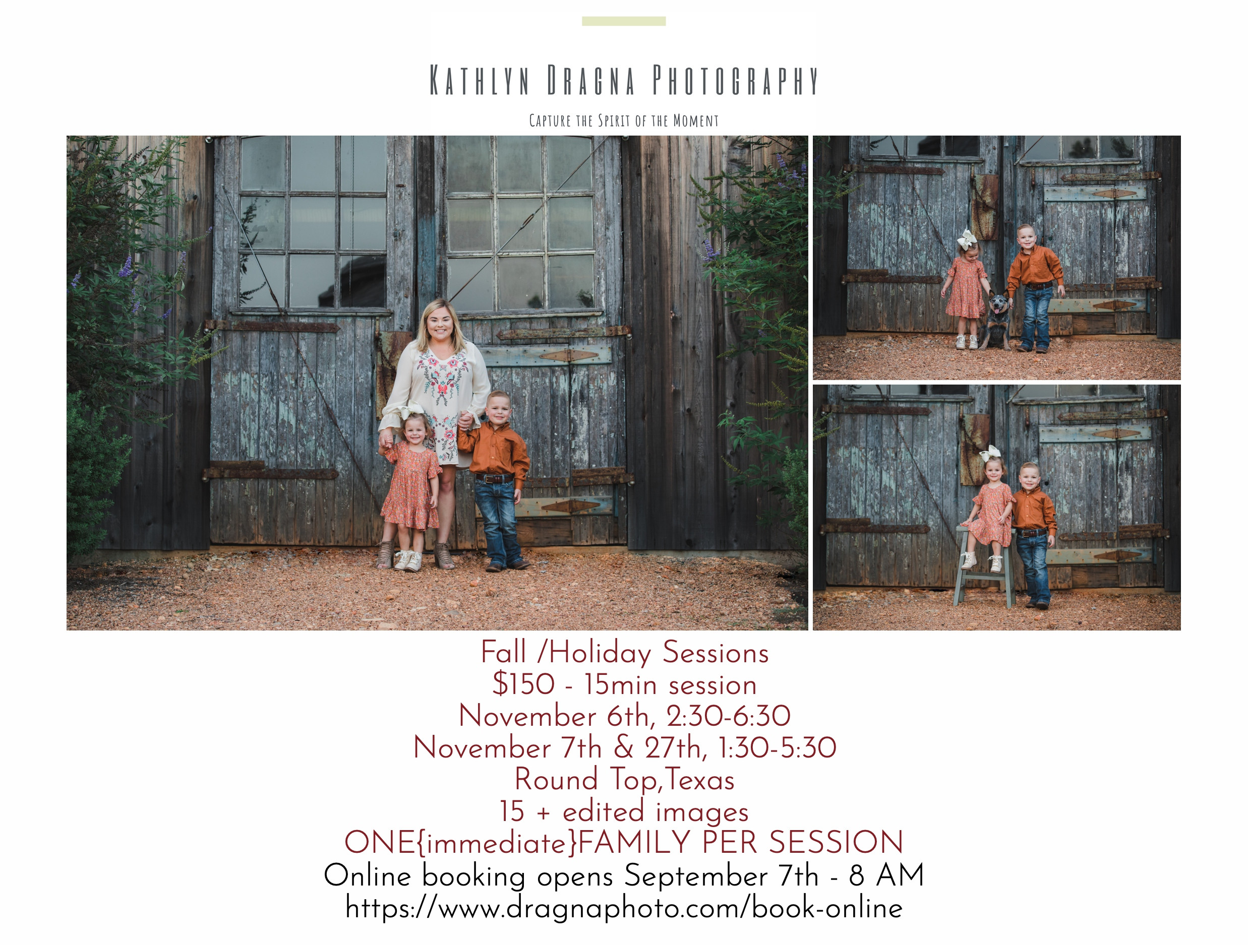 Fall/Holiday Family Sessions 2021