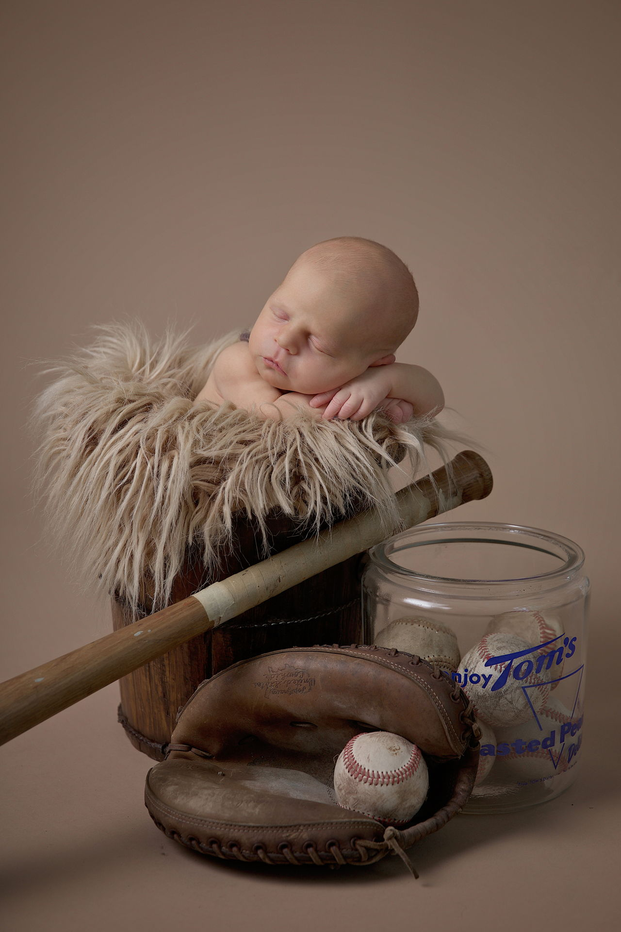 newborn photography baseball