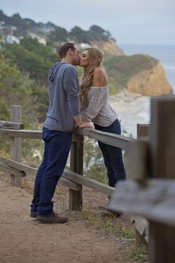 big sur california engagement photo