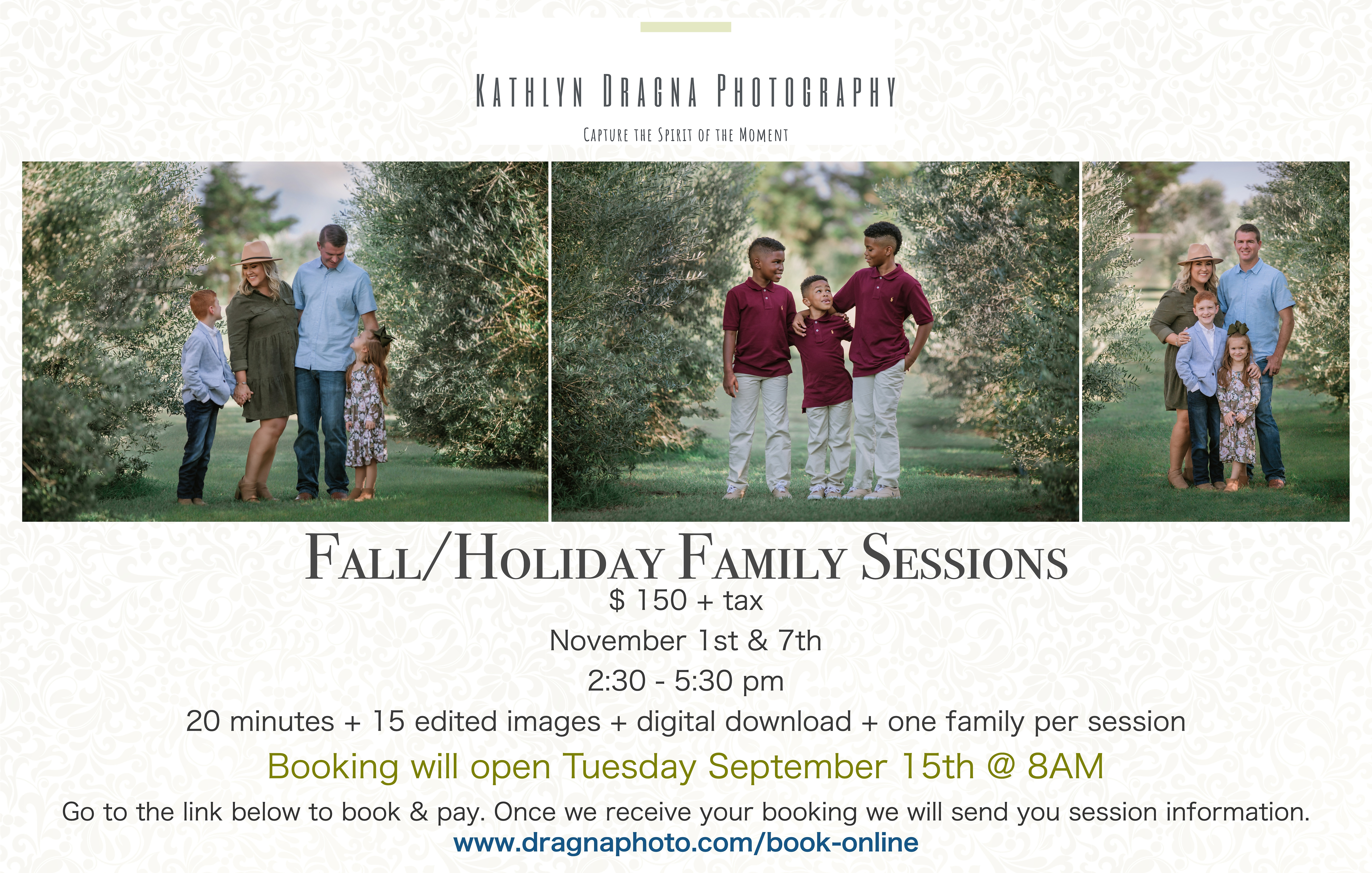 Fall/Holiday Family Sessions