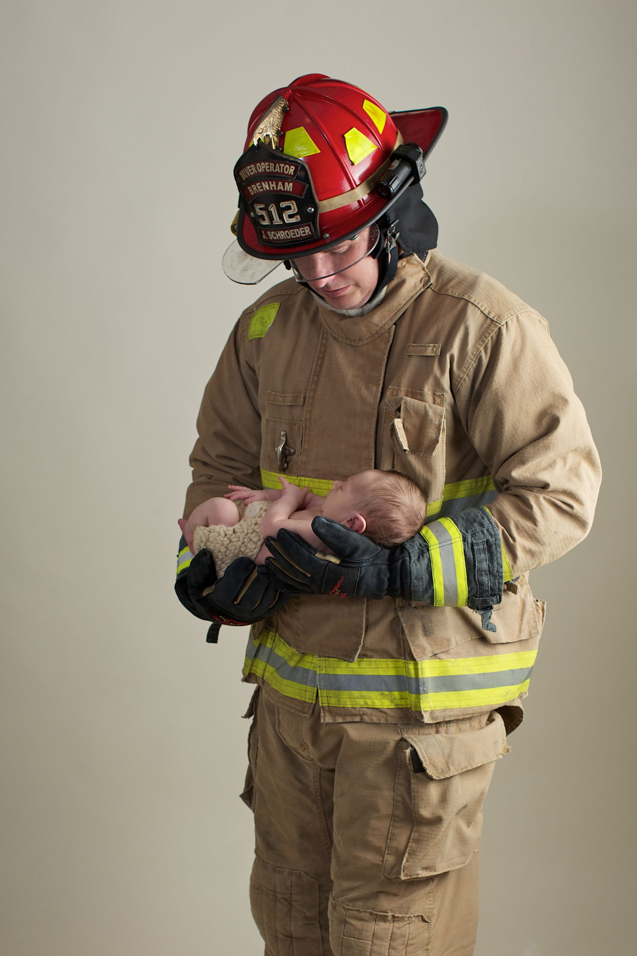 newborn photography firefighter