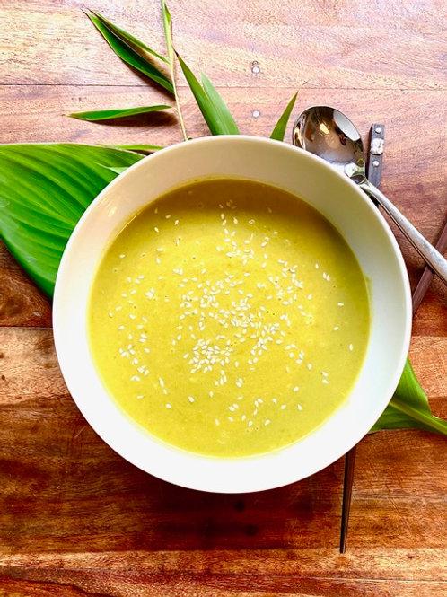 Erbsensuppe mit Curry und Limette von Schachner & Spehr