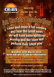 CRiBS Easter Celebration 2020 flyer