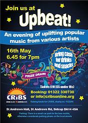 Upbeat music evening flyer