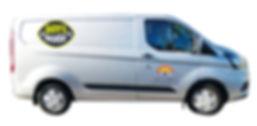 Silver Ford Transit Van