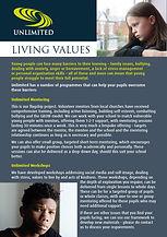 Unlimited Living Values leaflet