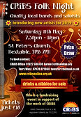 CRiBS Folk Night May 19 flyer
