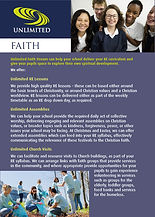 Unlimited faith leaflet
