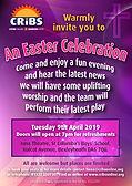 CRiBS Easter Celebration 2019 flyer