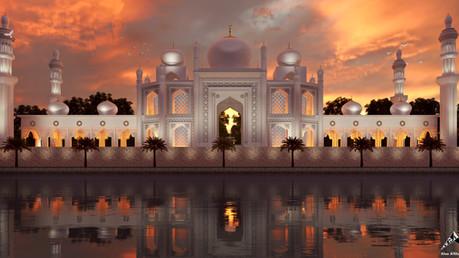 Arabian sunset cloudy day