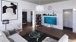 Paris flat - living room 01