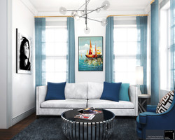 The Blue living room