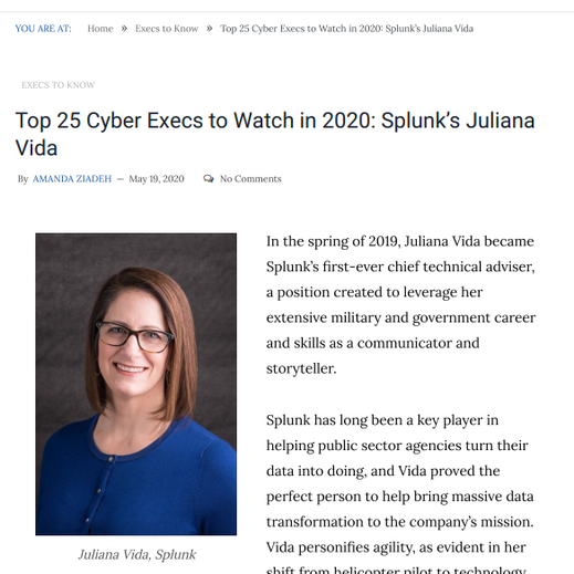 WCR Advisor Named to Top 25 Cyber Execs to Watch in 2020
