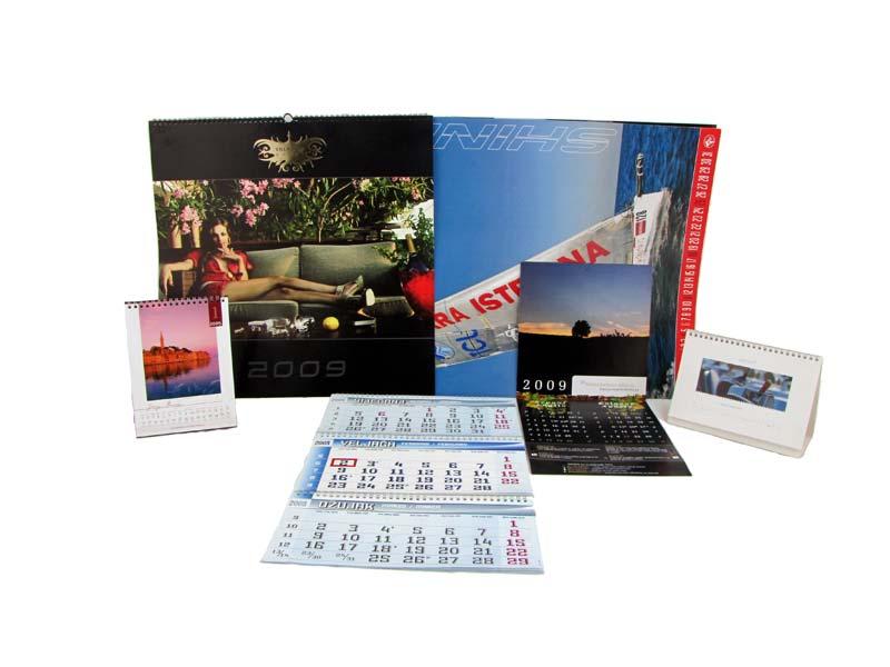 Kalendari raznih formata i namjena